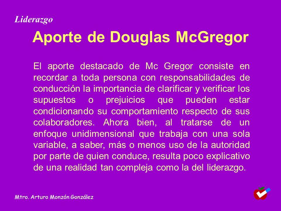 Aporte de Douglas McGregor