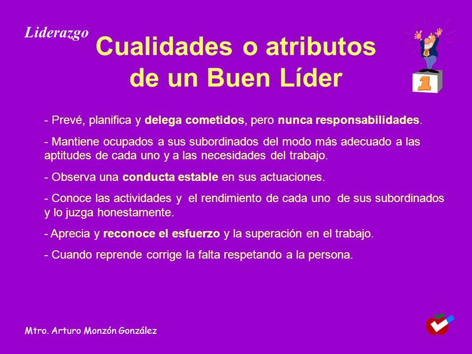 Cualidades o atributos de un Buen Líder