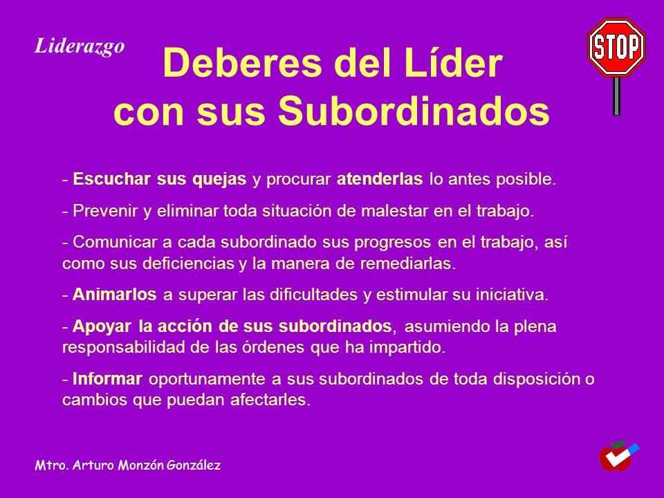 Deberes del Líder con sus Subordinados
