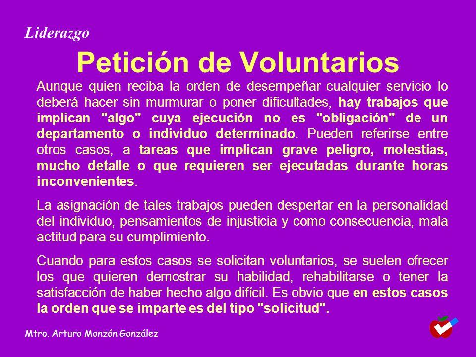 Petición de Voluntarios