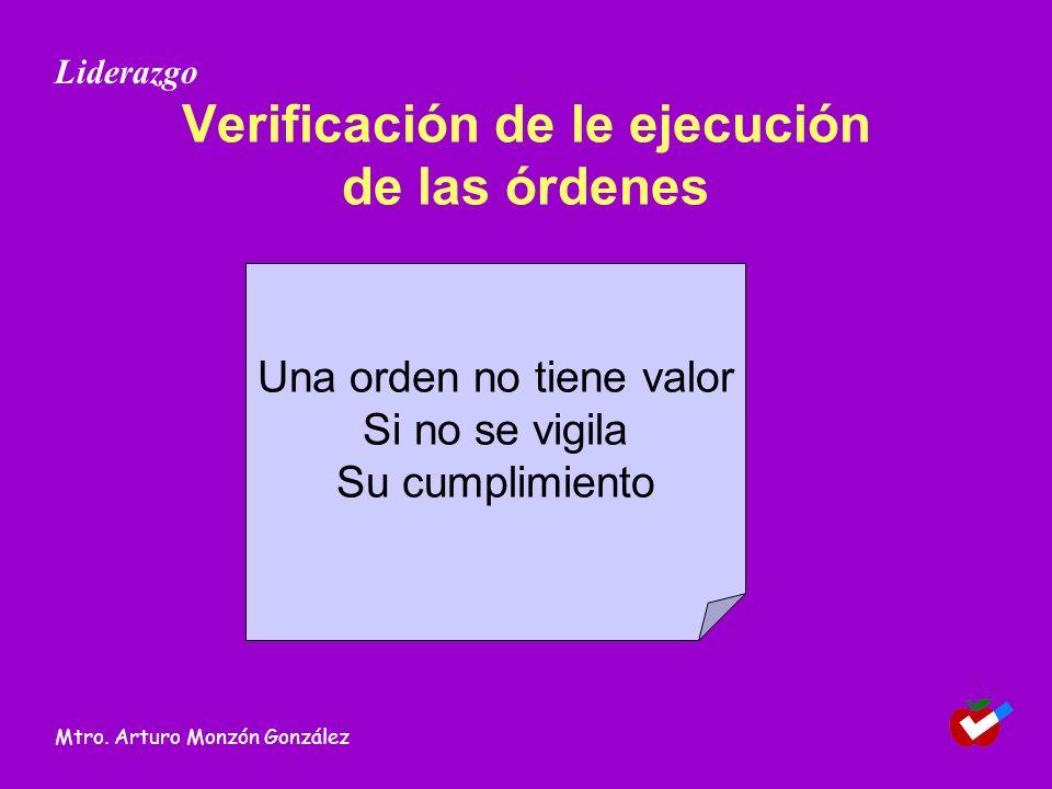 Verificación de le ejecución de las órdenes