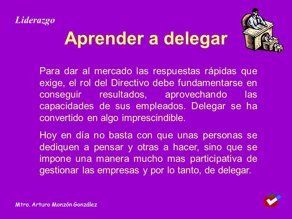 Aprender a delegar Liderazgo