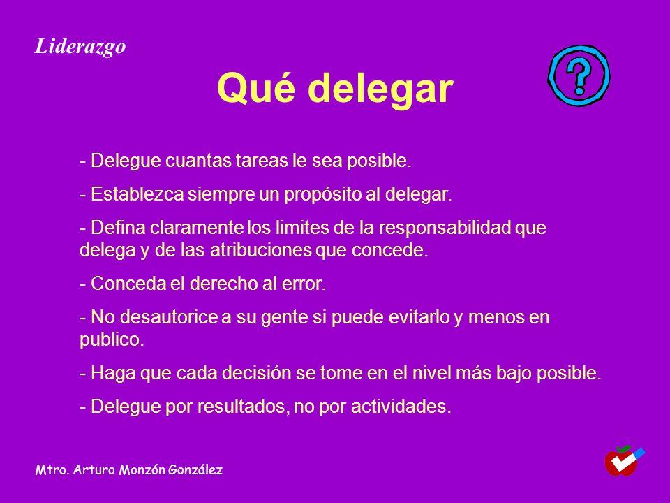 Qué delegar Liderazgo - Delegue cuantas tareas le sea posible.