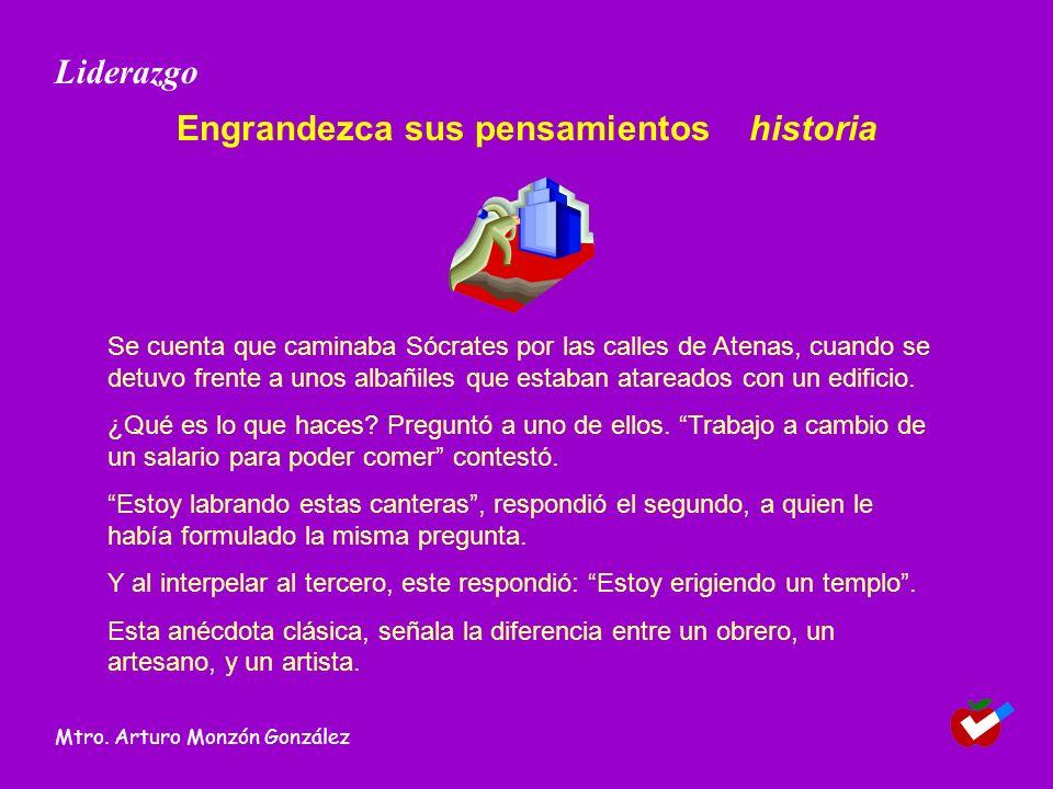 Engrandezca sus pensamientos historia
