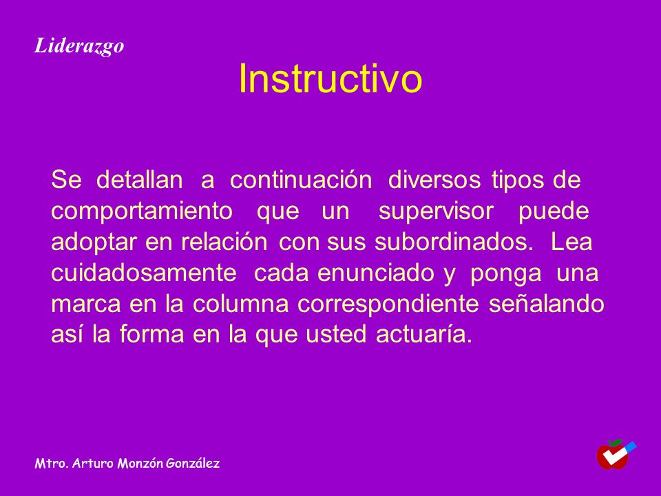 Liderazgo Instructivo.