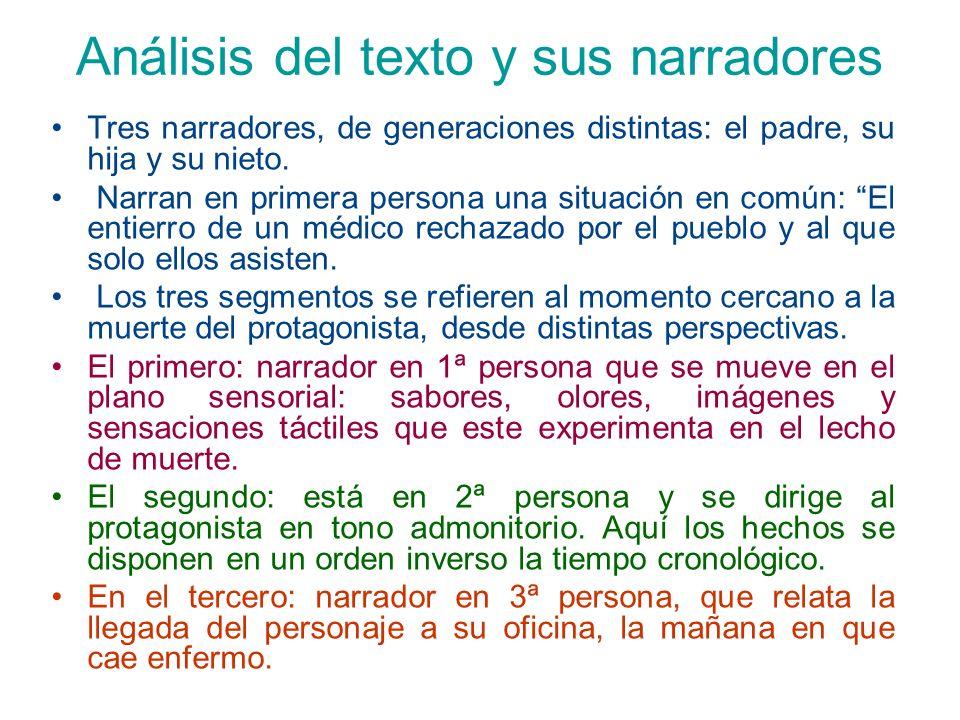 Análisis del texto y sus narradores