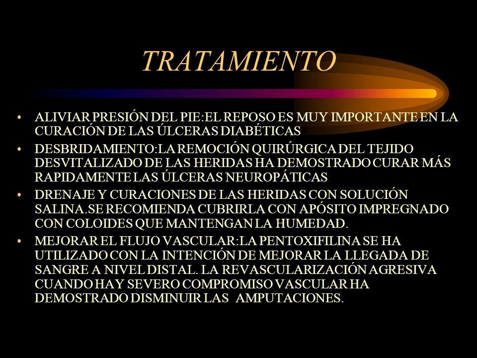 TRATAMIENTO ALIVIAR PRESIÓN DEL PIE:EL REPOSO ES MUY IMPORTANTE EN LA CURACIÓN DE LAS ÚLCERAS DIABÉTICAS.