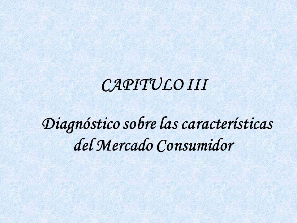 Diagnóstico sobre las características del Mercado Consumidor