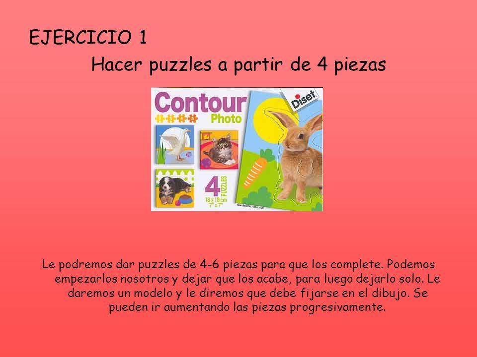 Hacer puzzles a partir de 4 piezas