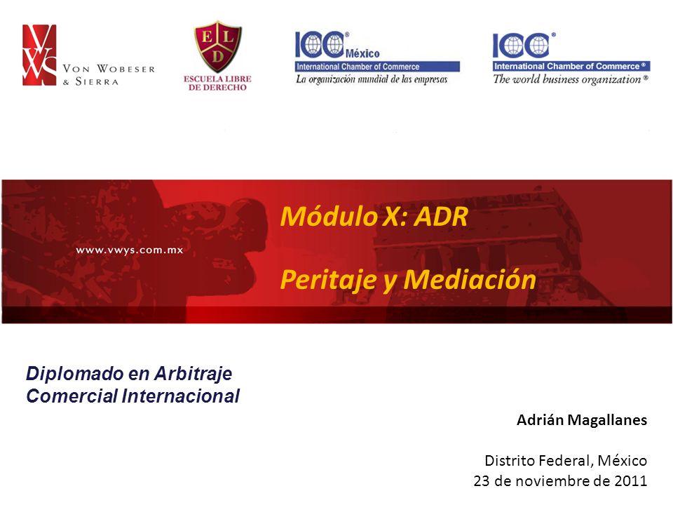 Módulo X: ADR Peritaje y Mediación