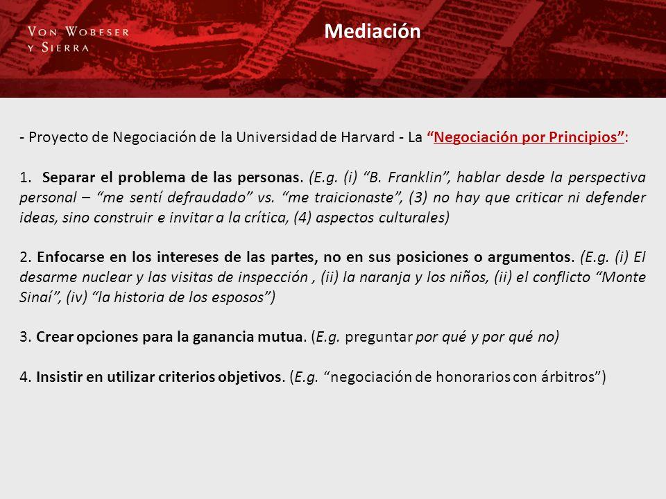 Mediación - Proyecto de Negociación de la Universidad de Harvard - La Negociación por Principios :
