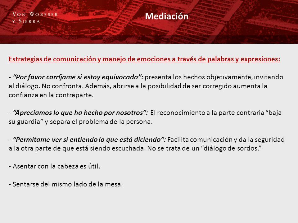 Mediación Estrategias de comunicación y manejo de emociones a través de palabras y expresiones: