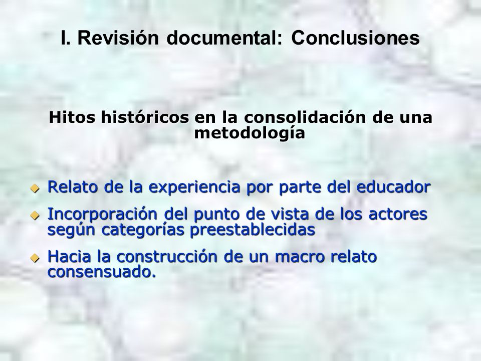 I. Revisión documental: Conclusiones