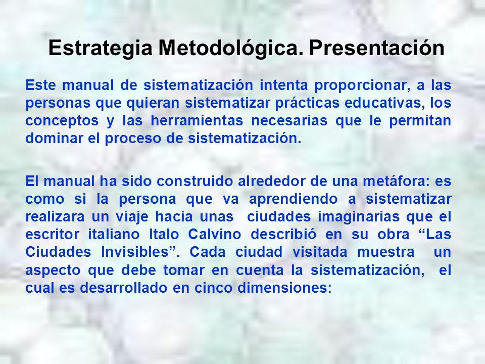 Estrategia Metodológica. Presentación