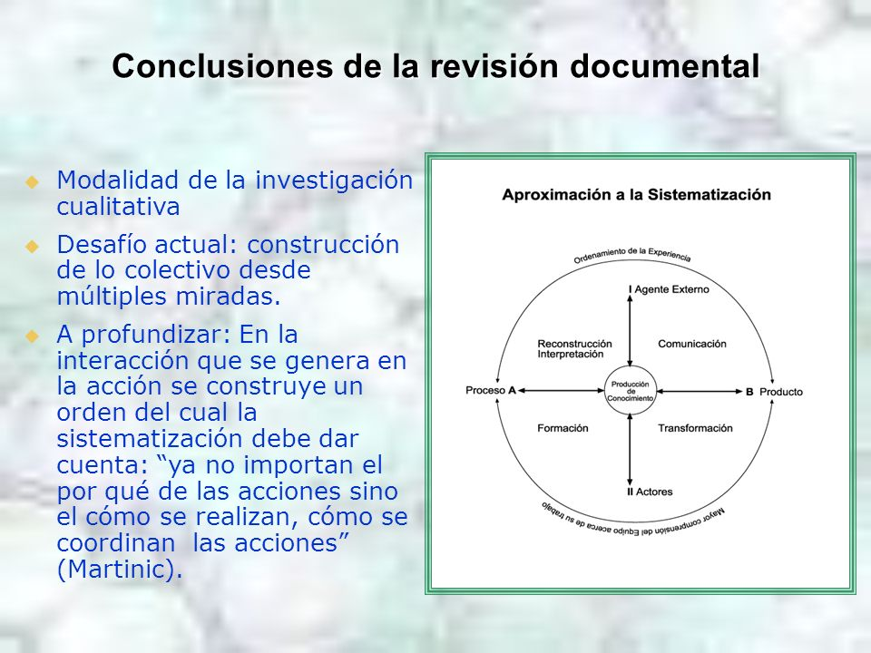 Conclusiones de la revisión documental