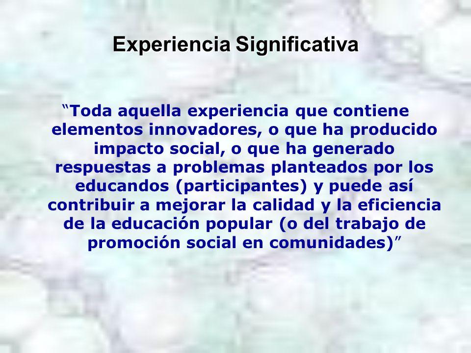 Experiencia Significativa