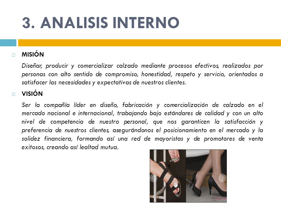 3. ANALISIS INTERNO MISIÓN