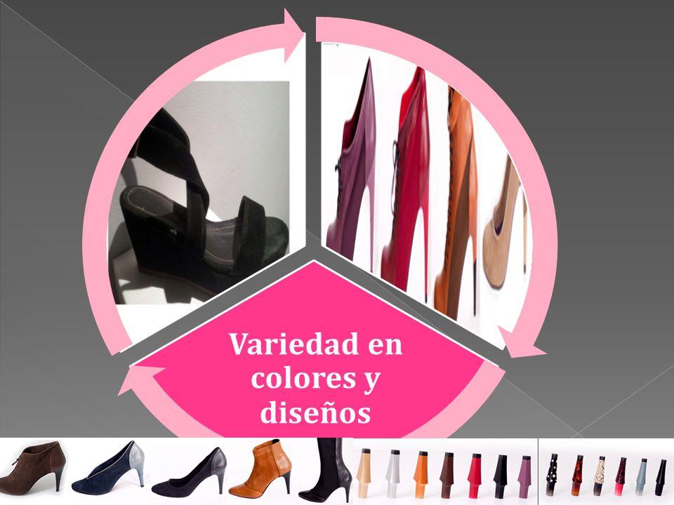 Variedad en colores y diseños