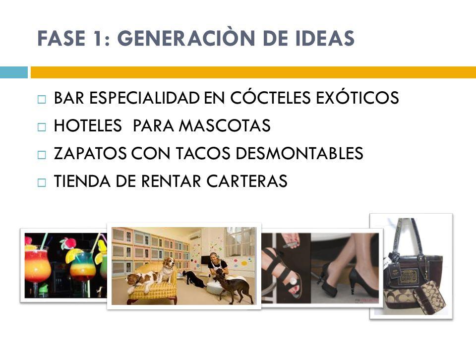 FASE 1: GENERACIÒN DE IDEAS