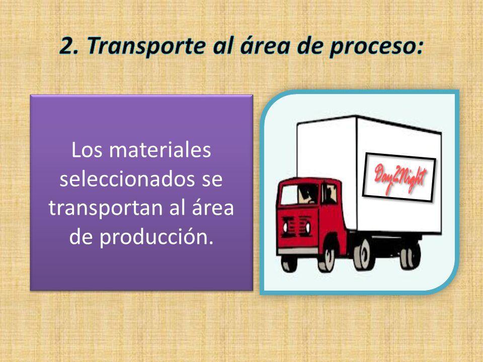 2. Transporte al área de proceso: