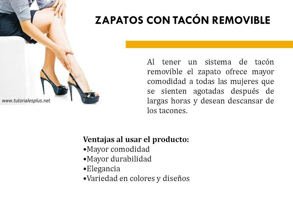 ZAPATOS CON TACÓN REMOVIBLE