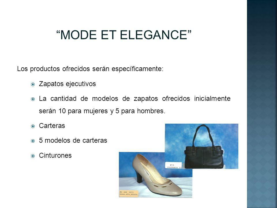 MODE ET ELEGANCE Los productos ofrecidos serán específicamente: