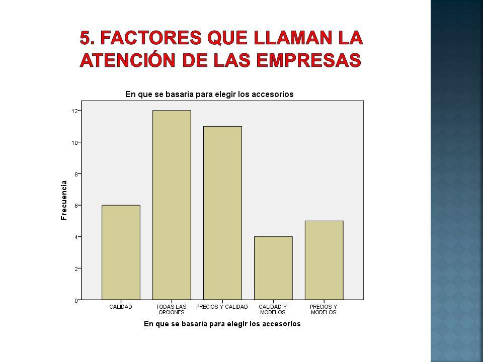 5. FACTORES QUE LLAMAN LA ATENCIÓN DE LAS EMPRESAS