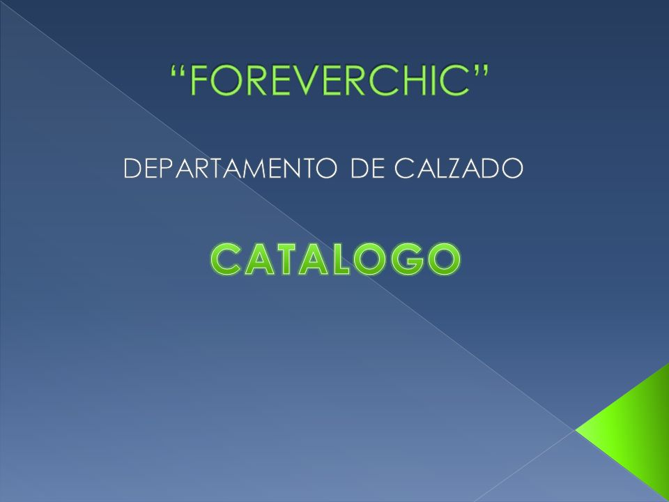 DEPARTAMENTO DE CALZADO