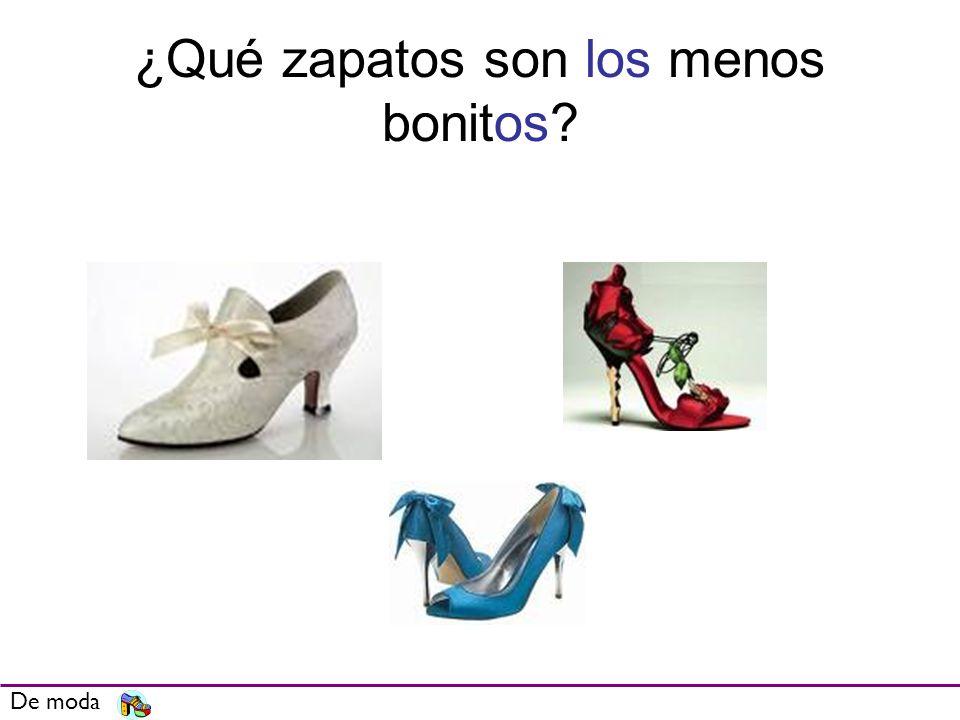 ¿Qué zapatos son los menos bonitos