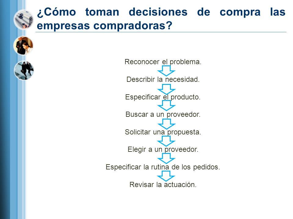 ¿Cómo toman decisiones de compra las empresas compradoras