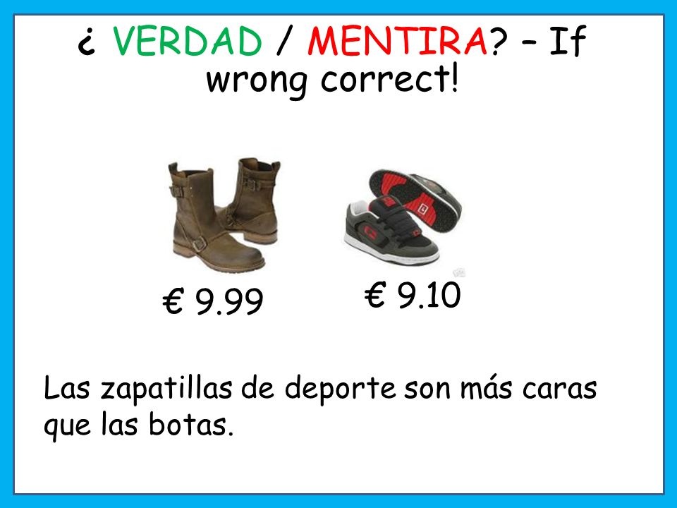 ¿ VERDAD / MENTIRA – If wrong correct!