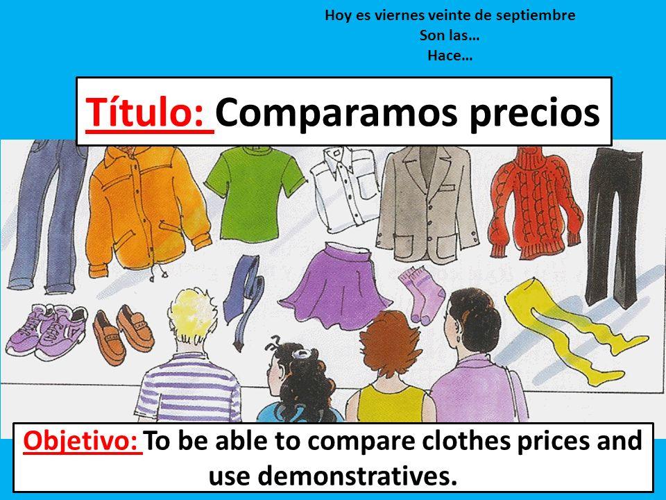Título: Comparamos precios