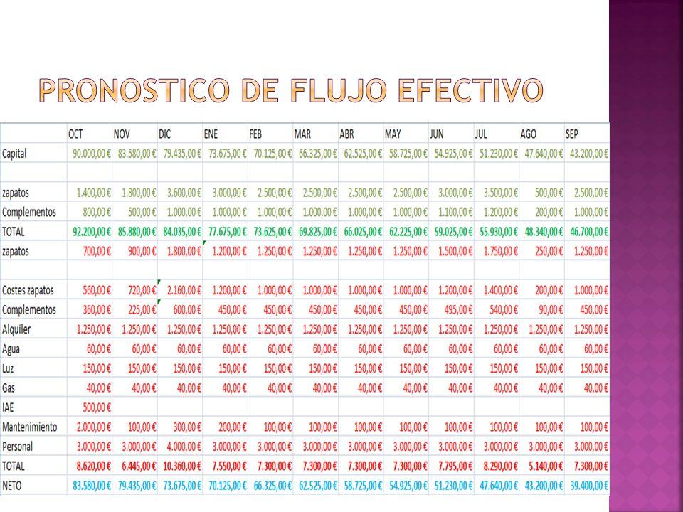 Pronostico de flujo efectivo