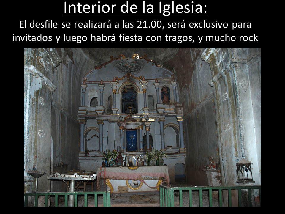 Interior de la Iglesia: El desfile se realizará a las 21