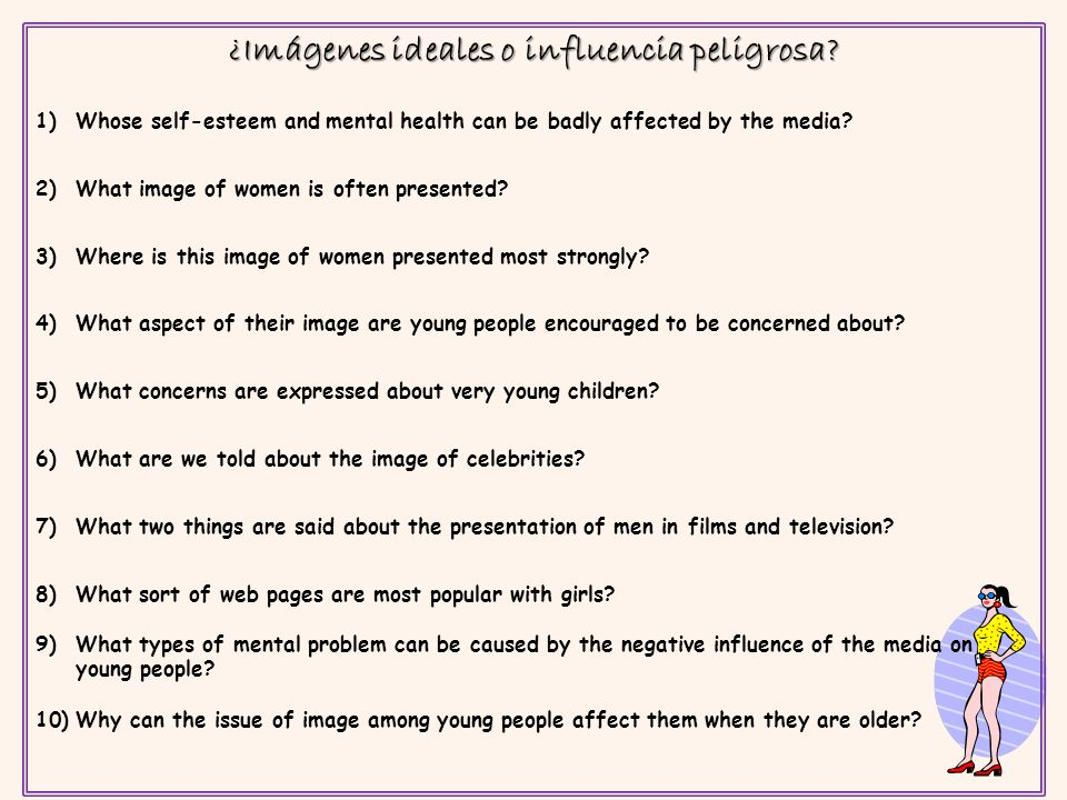 ¿Imágenes ideales o influencia peligrosa