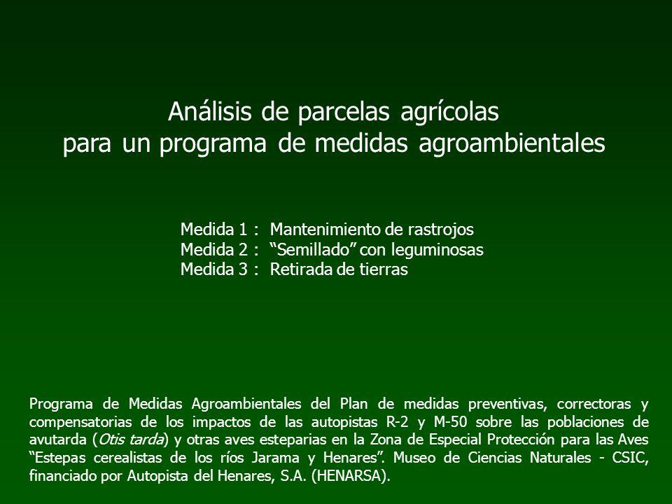 Análisis de parcelas agrícolas