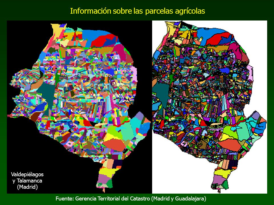 Información sobre las parcelas agrícolas
