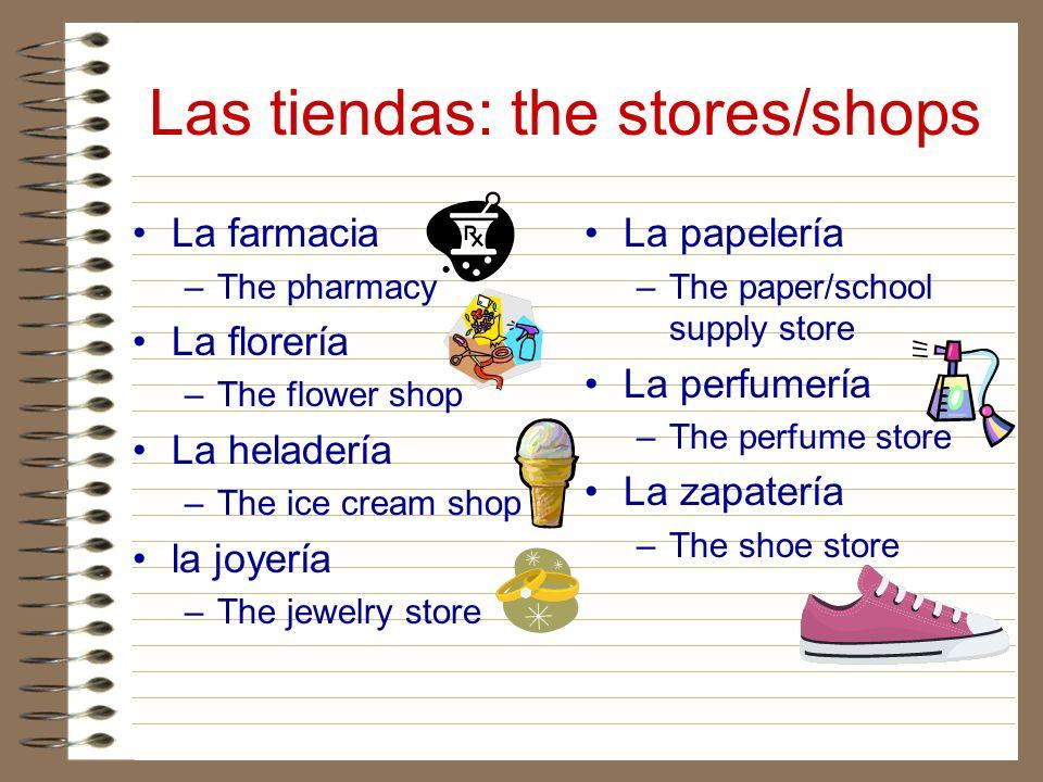 Las tiendas: the stores/shops