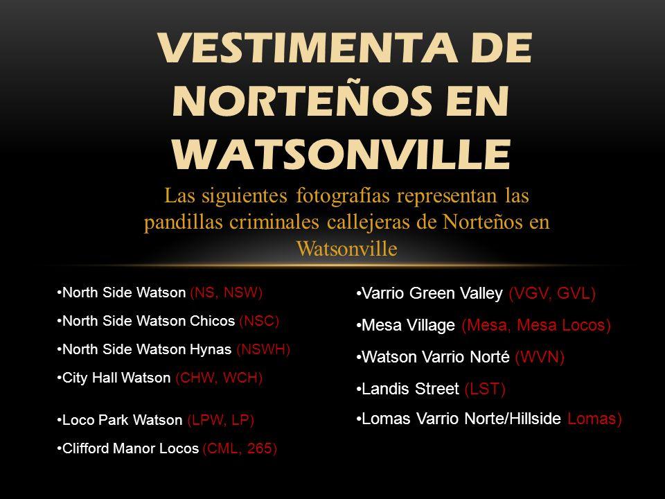 VESTIMENTA DE NORTEÑOS EN WATSONVILLE