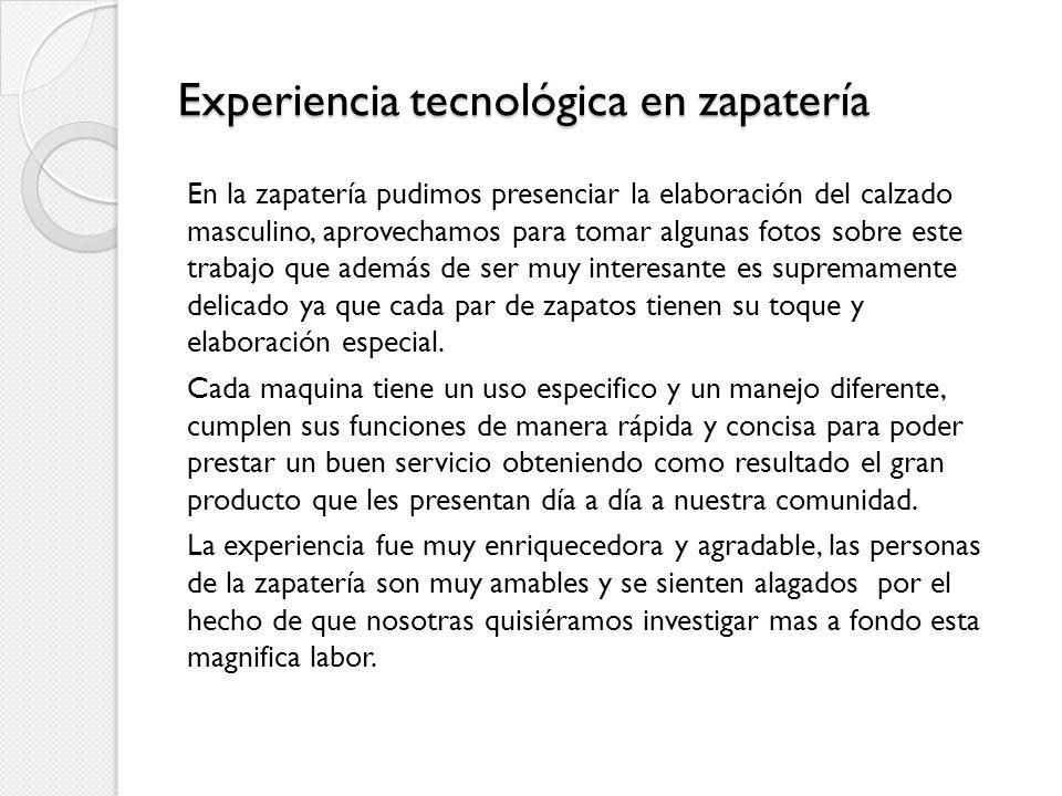 Experiencia tecnológica en zapatería
