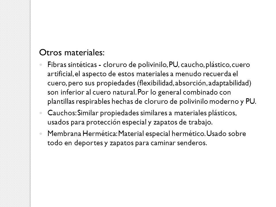 Otros materiales: