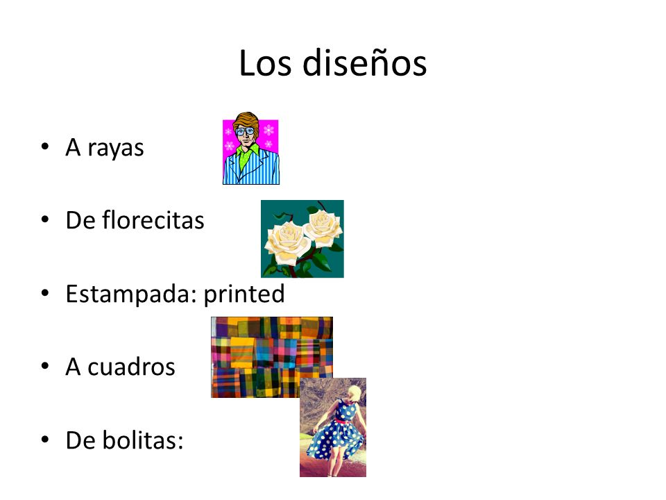 Los diseños A rayas De florecitas Estampada: printed A cuadros