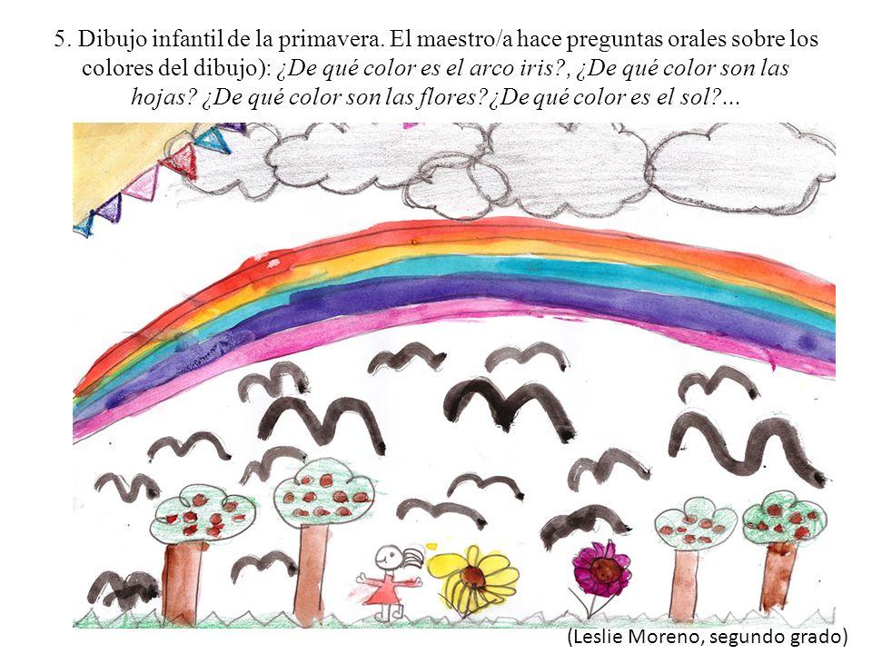 5. Dibujo infantil de la primavera