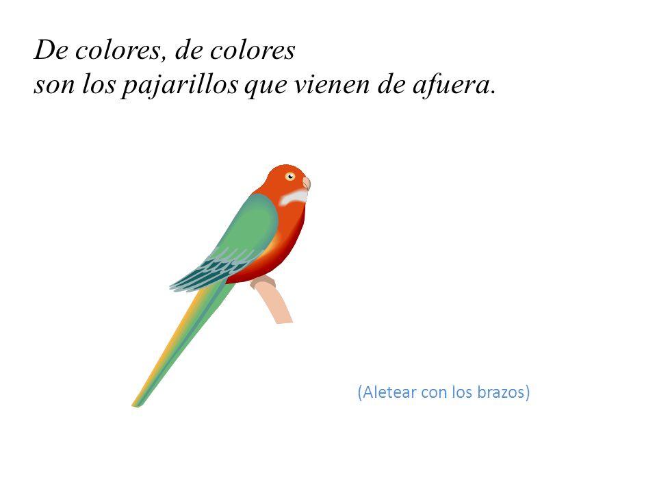 De colores, de colores son los pajarillos que vienen de afuera.