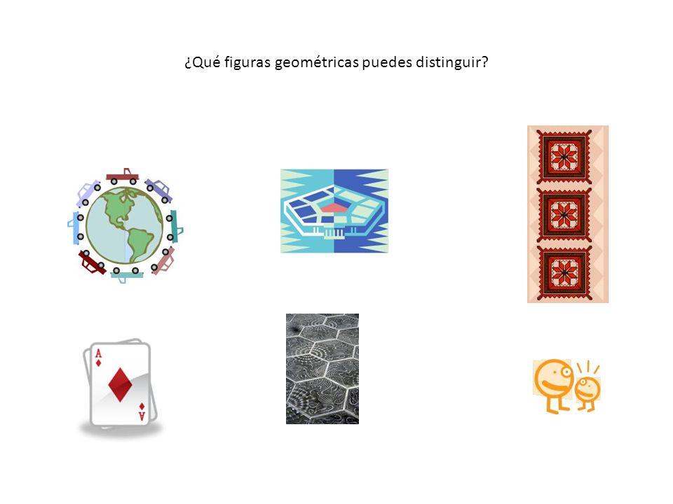 ¿Qué figuras geométricas puedes distinguir