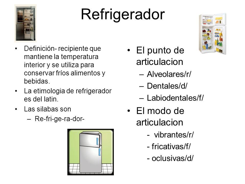 Refrigerador El punto de articulacion El modo de articulacion