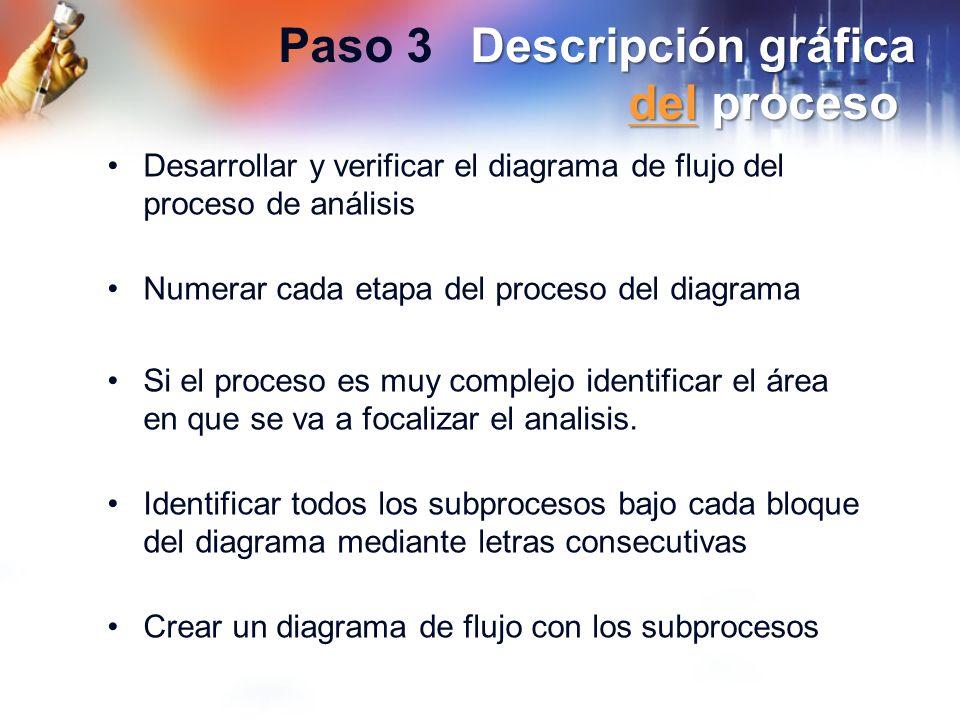 Paso 3 Descripción gráfica del proceso
