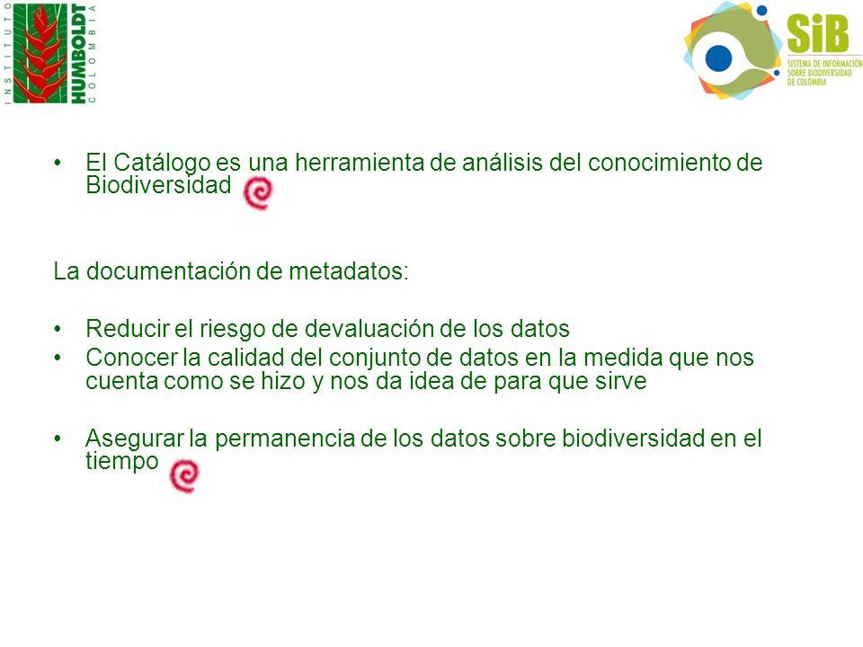 El Catálogo es una herramienta de análisis del conocimiento de Biodiversidad