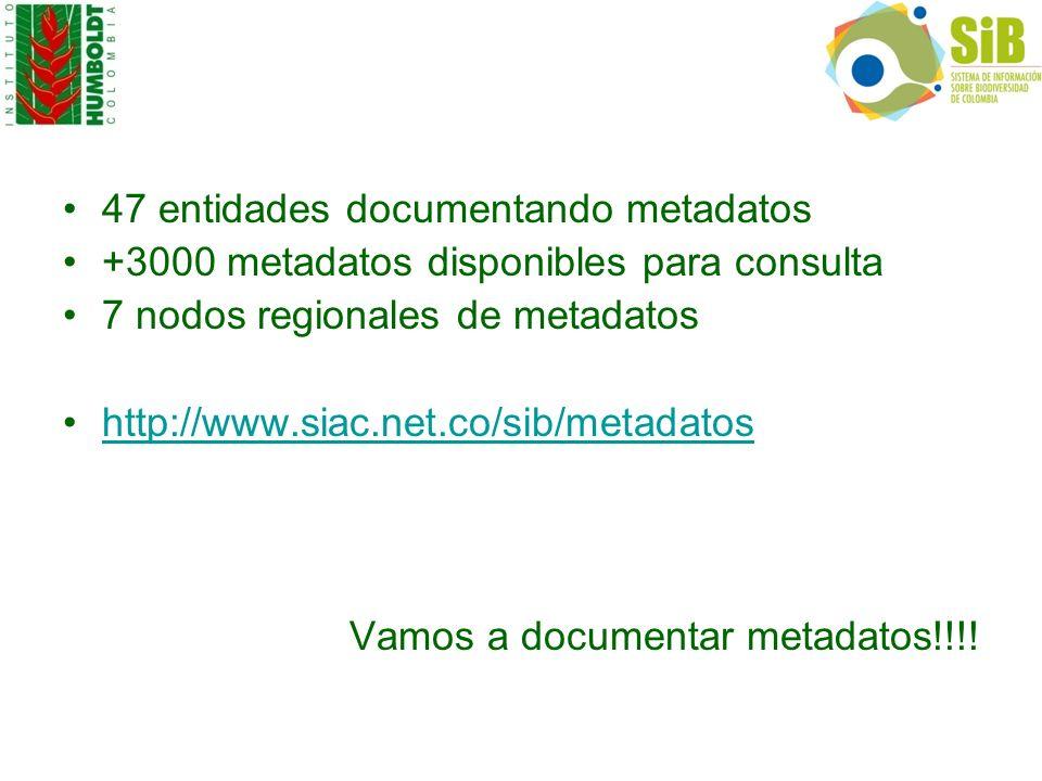 47 entidades documentando metadatos