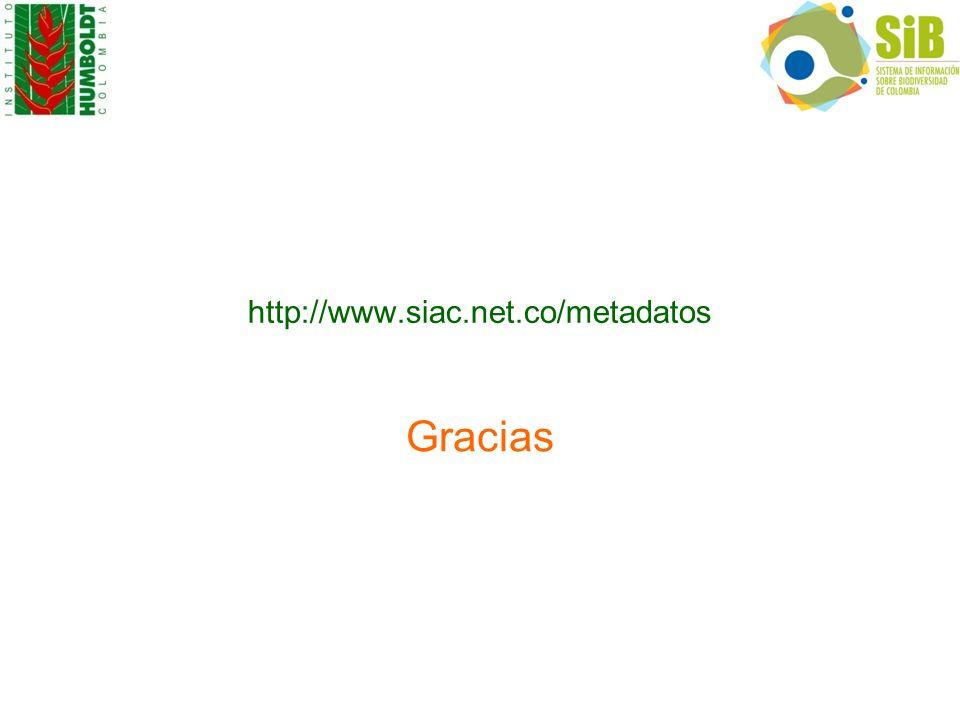 http://www.siac.net.co/metadatos Gracias